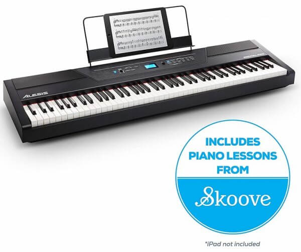 Alesis Pro 88 piano with Skoove