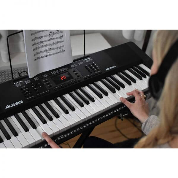Alesis Melody 61 MKII – 61 Key Digital Electric Piano / Keyboard - overhead play view