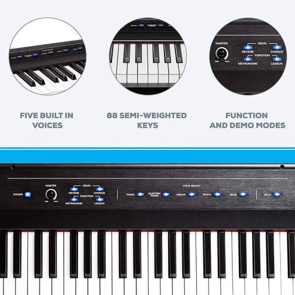 Alesis Recital – 88 Key Digital Electric Piano - feature rich