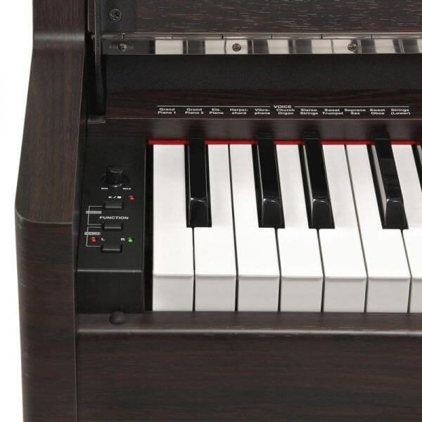 DP-70U Upright Digital Piano - left side view