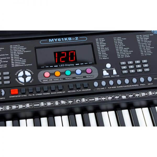 Mylek Portable Electronic Keyboard - close up view