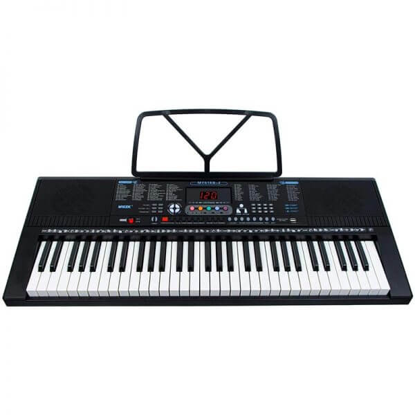 Mylek Portable Electronic Keyboard - overhead view