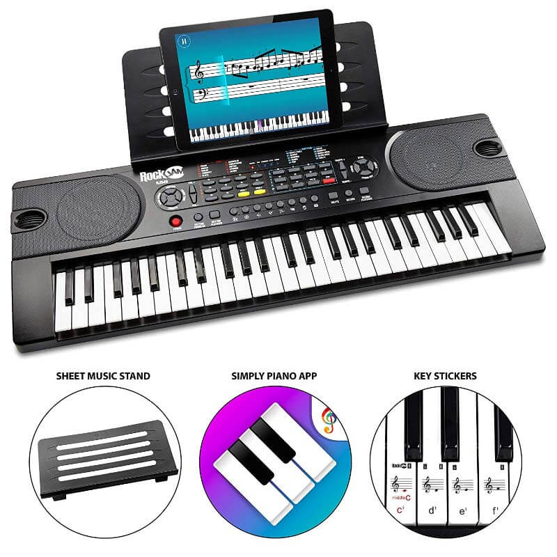 RockJam 49-Key Portable Digital Piano Keyboard
