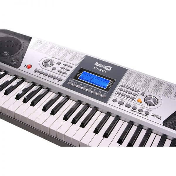 RockJam RJ661 61 Key Electronic Interactive Teaching Piano Keyboard - another view of options