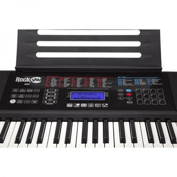 RockJam RJ761-SK Key Electronic Interactive Teaching Keyboard - close up of options