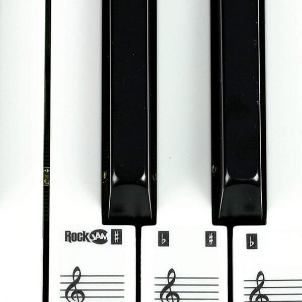 RockJam R549 49-Key Portable Digital Piano Keyboard - key stickers