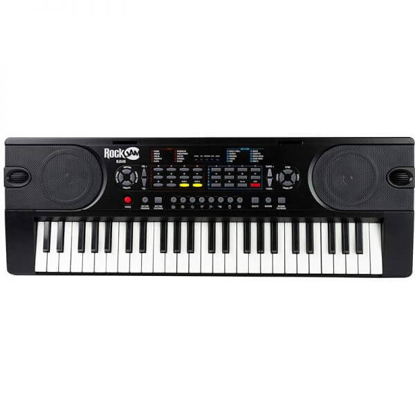 RockJam R549 49-Key Portable Digital Piano Keyboard - overhead view