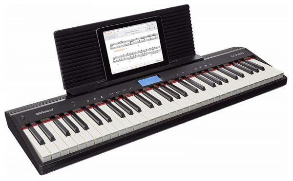 Roland Go 61P piano front