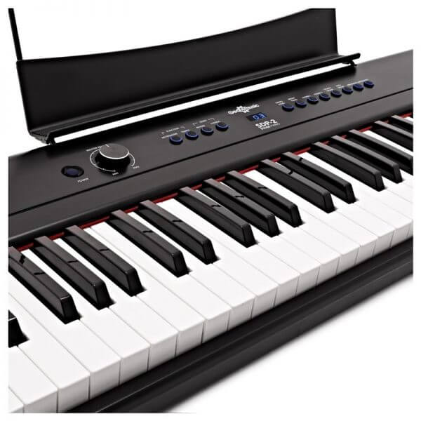 SDP-2 Stage Piano by Gear4music - side angle view