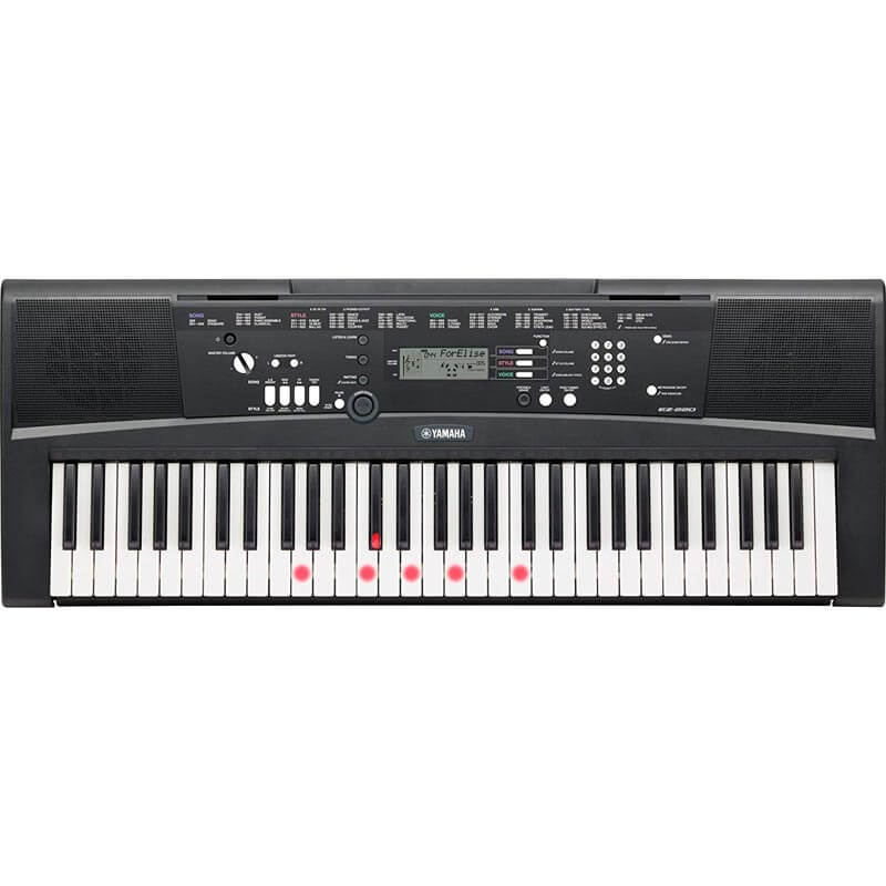 Yamaha EZ-220 Portable Keyboard with 61 Full-Size Lighted keys
