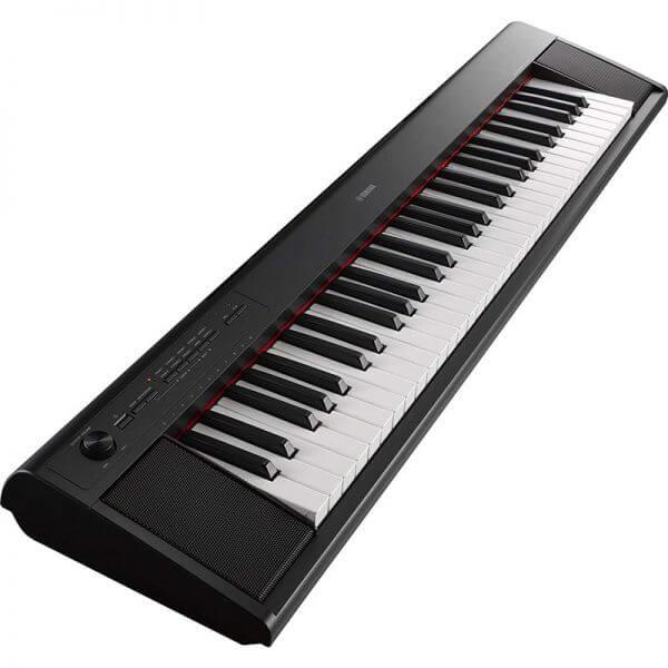 Yamaha NP-12 Piaggero Slimline Home Keyboard - side view