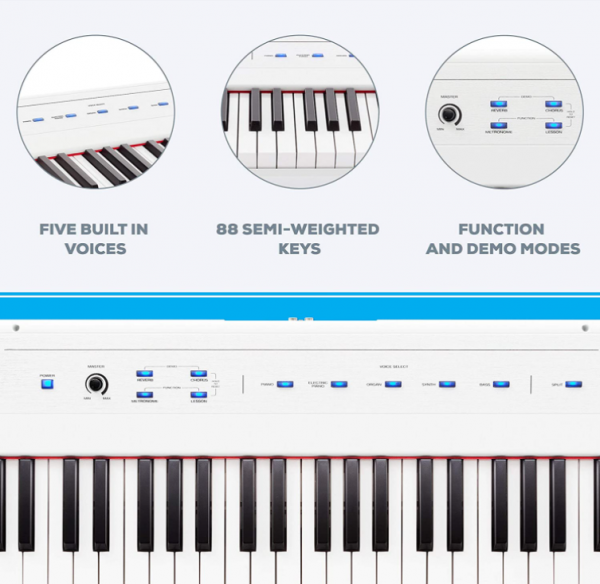 Alesis Recital 88 key digital piano white