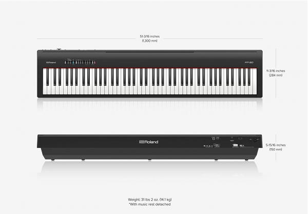 Roland FP-30 dimensions