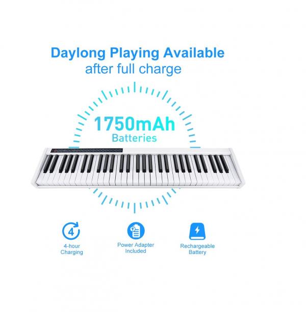 Vangoa VGD611 electric keyboard rechargeable